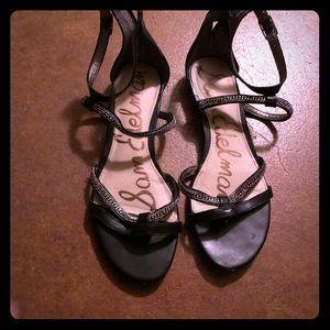 Sam Edelman sandals black and silver accent size 6